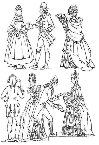clothing 1770 1800 Short Peach Prom Dresses close caps resembling night caps were much worn in 1773 even in fashionable circles sometimes they had lace wings at the sides giving a somewhat