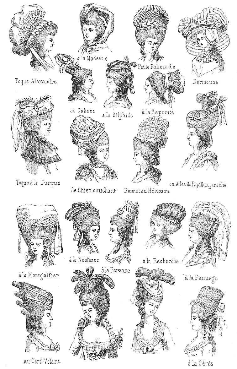 18th Century French Head Wear