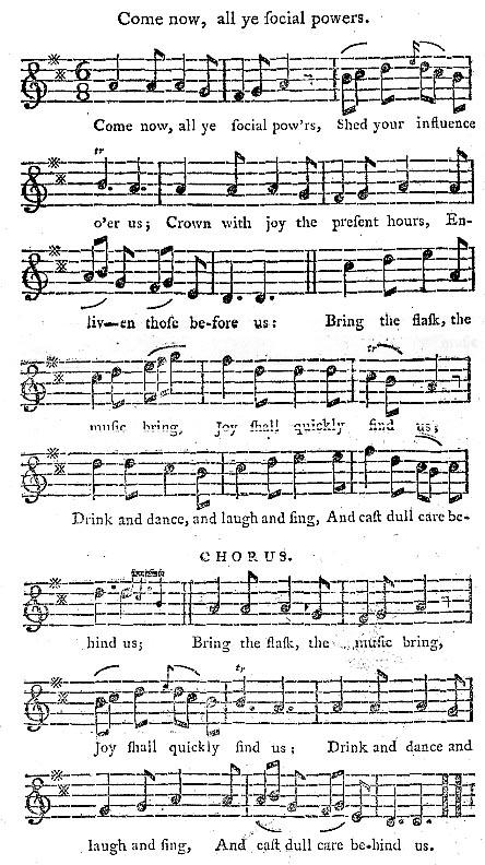 18th Century drinking songs